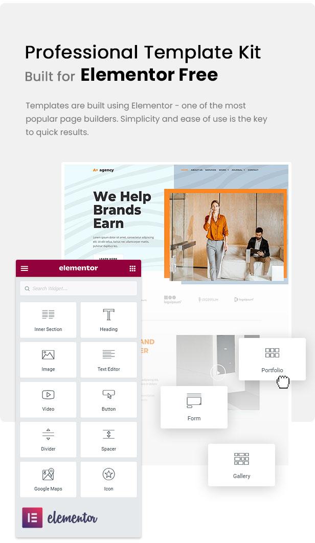 A-Plus Creative Agency Elementor Template Kit - 1
