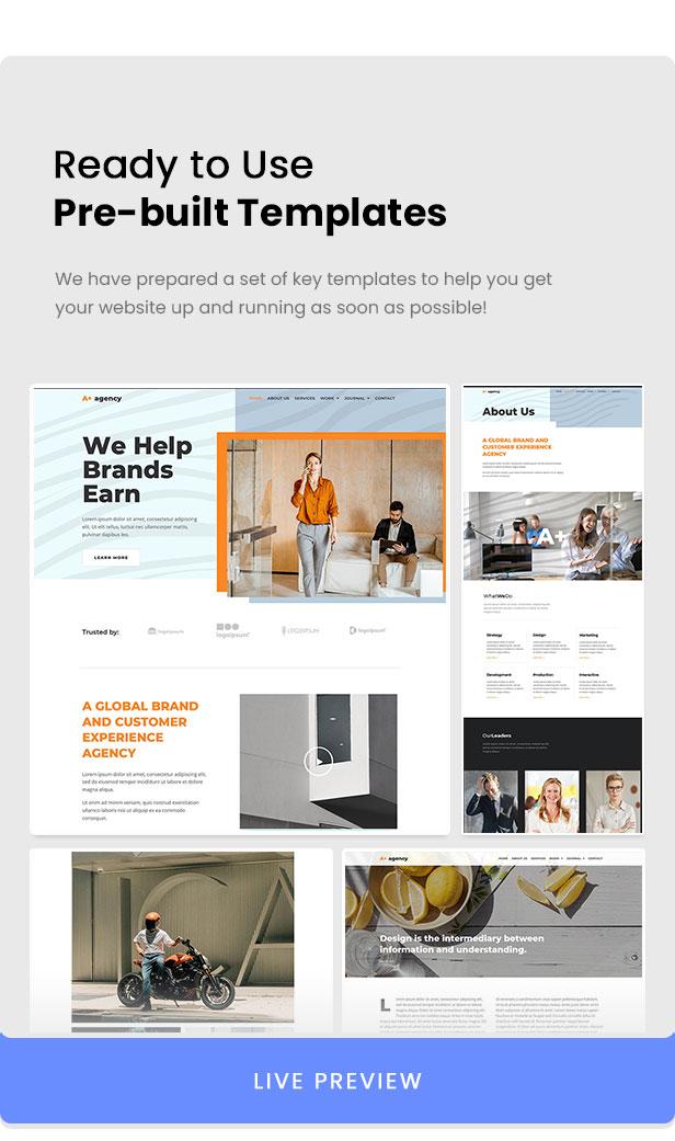 A-Plus Creative Agency Elementor Template Kit - 2