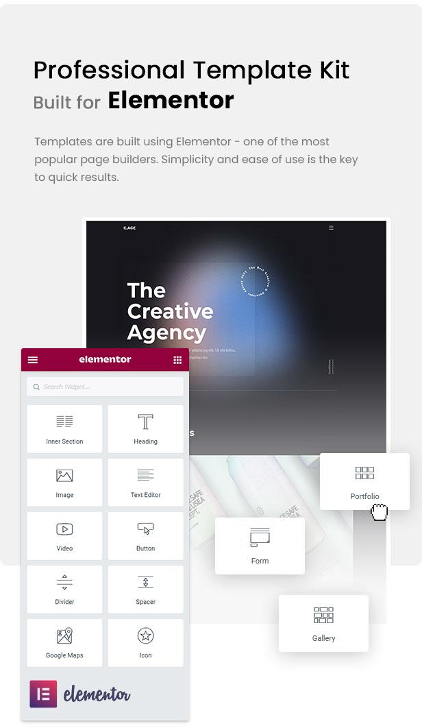 C.AGE - Creative Agency Personal Portfolio Elementor Template Kit - 1