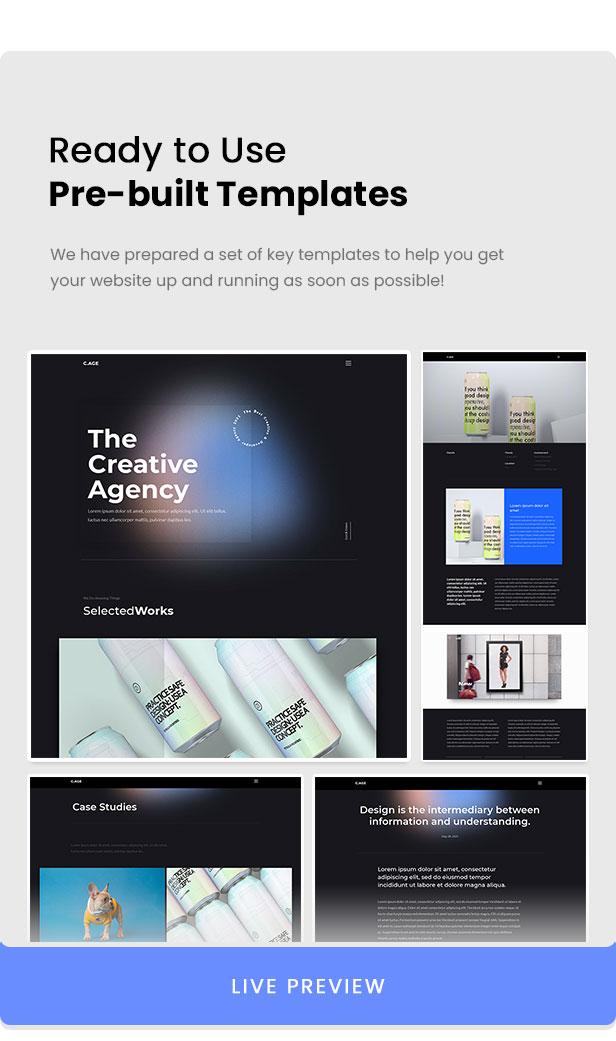 C.AGE - Creative Agency Personal Portfolio Elementor Template Kit - 2