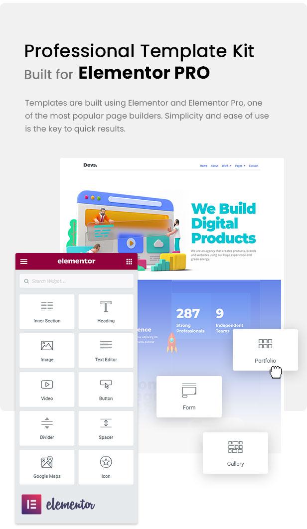 DevBox — Creative Digital Agency Elementor Template Kit - 1