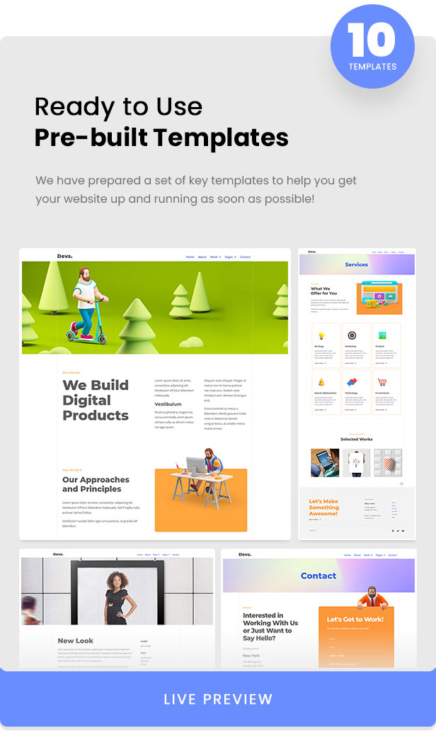 DevBox — Creative Digital Agency Elementor Template Kit - 2