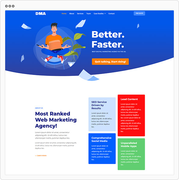 dma_screen DMA - Digital Marketing Agency Template Kit theme WordPress